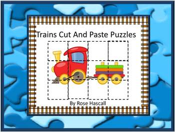 Transportation Cut and Paste Puzzles
