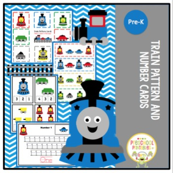 Trains Pattern and Number Cards