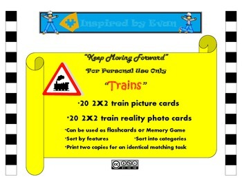 """""""Trains"""" Picture Matching/Flashcards/Memory Game for Autism"""