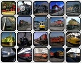 """Trains"" Picture Matching/Flashcards/Memory Game for Autism"