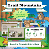 """NGSS Life Science """"Trait Mountain"""" STEM Unit (Traits Heredity Biomimicry)  1-LS"""
