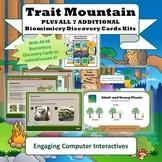 "Bundle: ""Trait Mountain"" STEM Unit + All Biomes Biomimicry Discovery Card Kits"