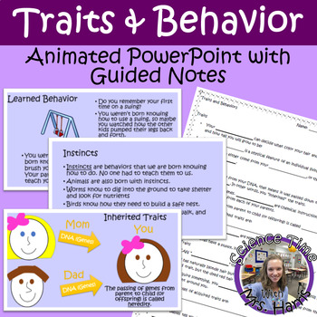 Traits (Inherited/Acquired) and Behavior ANIMATED PowerPoint/Guided Notes