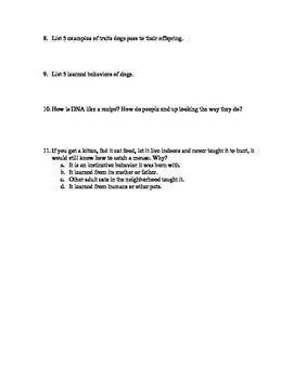 Traits Quiz