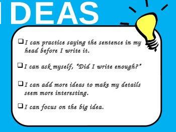 Traits Writing Objectives