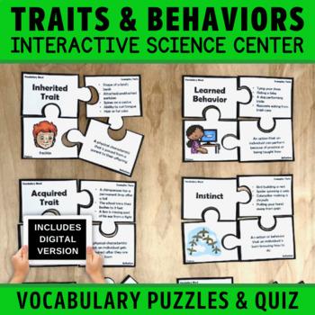 Traits and Behaviors Vocabulary Puzzles