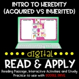Traits and Heredity DIGITAL Read and Apply for Distance Learning
