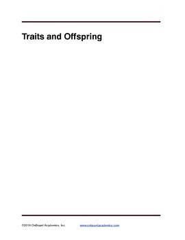 Traits and Offspring
