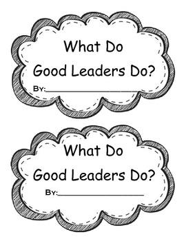 Traits of Good Leaders Mini Book