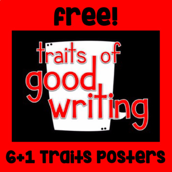 Free! Traits of Good Writing Posters - 6+1 Traits - Navy Blue/String Lights