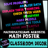 Math Poster - Traits of Mathematicians Classroom Decor Poster
