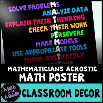 Traits of Mathematicians Classroom Math Poster