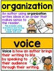 Traits of Writing - 8 Six Traits Posters, Word Wall, and Flashcards