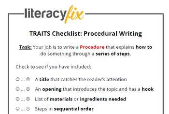 Traits of Writing Checklists - Non-Fiction Text Types Pack