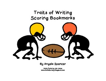 Traits of Writing: Editing Bookmarks (Football Themed)