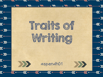 Traits of Writing (tribal theme)