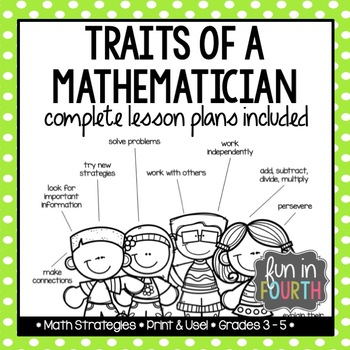 Traits of a Mathematician: Lesson Plan, Brainstorming Activitiy, & Ranking Task