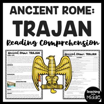 Trajan Biography Reading Comprehension Worksheet; Ancient Rome