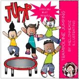 Trampoline Jumping clip art - Mini - Melonheadz Clipart