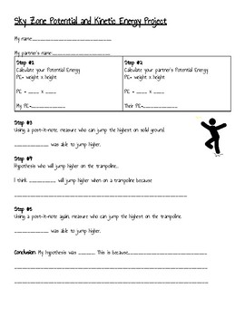 Trampoline Park Field Trip Lesson Plan (Sky Zone) 7TH