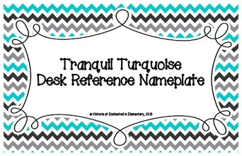 Tranquil Turquoise Desk Reference Nameplates