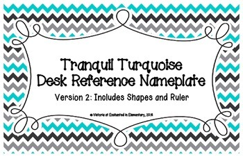 Tranquil Turquoise Desk Reference Nameplates Version 2