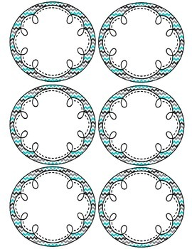 Tranquil Turquoise Editable Labels
