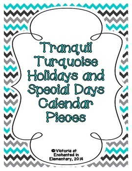 Tranquil Turquoise Holiday Calendar Pieces