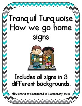 Tranquil Turquoise How We Go Home Signs