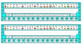 Tranquil Turquoise Quatrefoil Desk Reference Nameplates