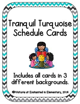 Tranquil Turquoise Schedule Cards