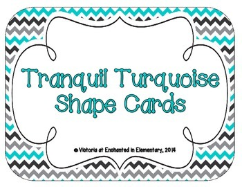 Tranquil Turquoise Shape Cards