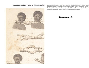 Trans-Atlantic Slave Trade Documents and Worksheet