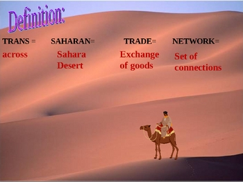 Trans-Saharan Trade Network - PowerPoint