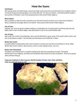 Trans-Saharan Trade Simulation