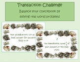 Transaction Challenge: Balance your Checkbook using Real World Problems