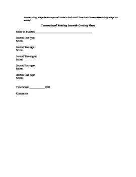 Transactional Reading Journals