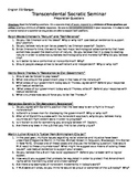 Transcendental Socratic Seminar Preparation Questions