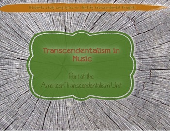 Transcendental Songs…or not? KEY INCLUDED