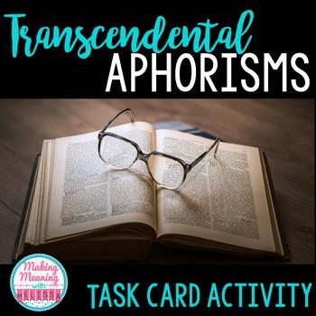 Transcendental Task Cards, Emerson, High School