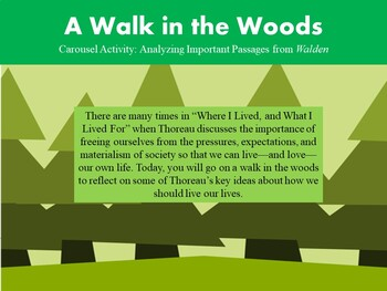 Transcendentalism: A Walk in the Woods Carousel Activity