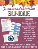 Transcendentalism BUNDLE - Fun quiz, stations, & activitie
