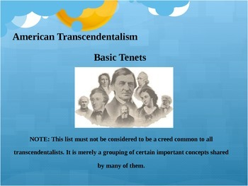 Transcendentalism: Background Powerpoint