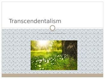 Transcendentalism Beliefs and Ideas PowerPoint