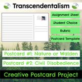 Transcendentalism Creative Postcard Project