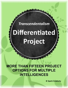 Transcendentalism Differentiated Project, High School ELA