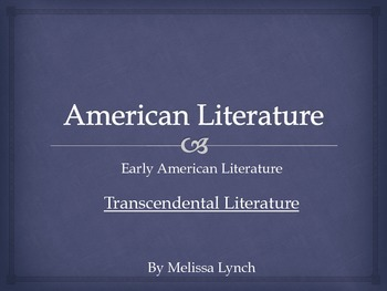 Transcendentalism - Early American Literary Movement Serie