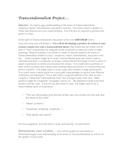 Transcendentalism Final Assignment
