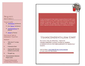 Transcendentalism Full Unit