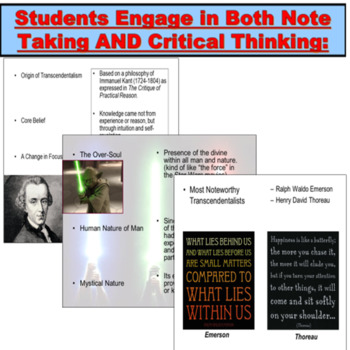 Transcendentalism Introduction Power Point